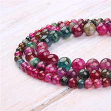 Tourmaline Agate Natural Stone Beads For Jewelry Making Diy Bracelet Necklace 4/6/8/10/12 mm Wholesale Strand