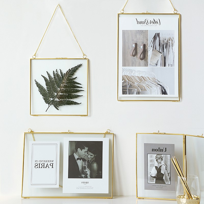 nordic luxury style gold brass wall hanging frame poster frame wall photo frames for picture frame gold frame tabletop gifts