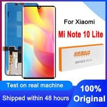 100% מקורי 6.47 LCD תצוגת מסך מגע Digitizer עצרת עבור Xiaomi Mi הערה 10 לייט M2002F4LG M1910F4G LCD החלפה