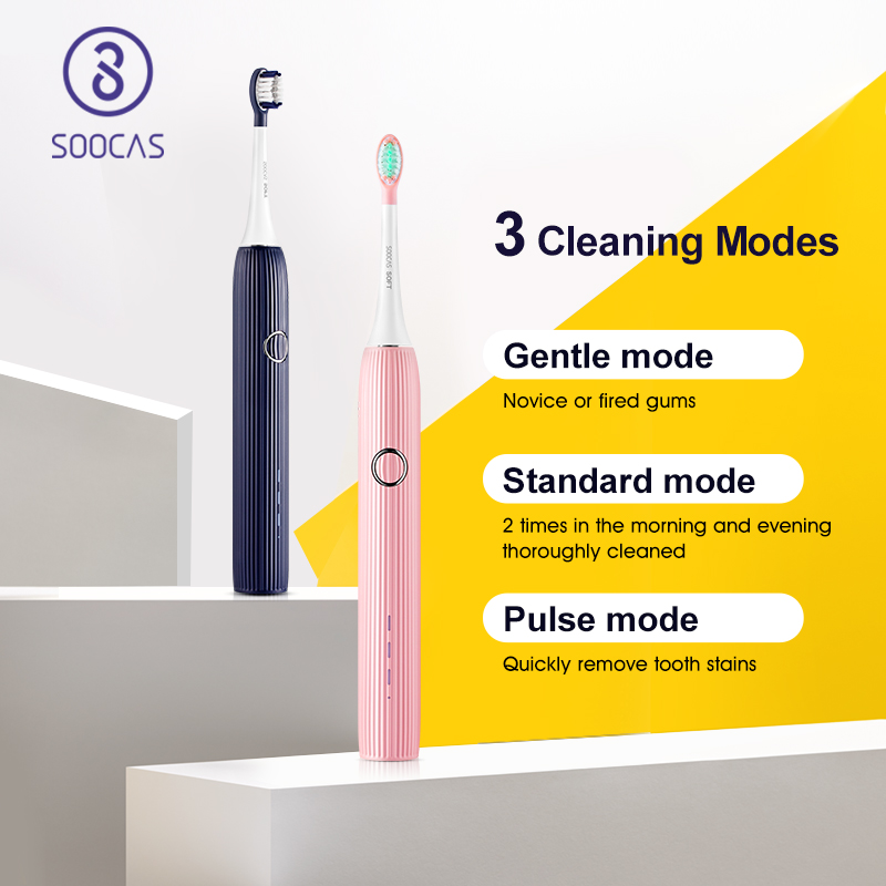 Image 3 - SOOCAS V1 Electric Toothbrush Sonic Ultrasonic Automatic ToothBrush Type c Rechargeable Waterproof Tooth Brush Adult Tooth Clean-in Electric Toothbrushes from Home Appliances
