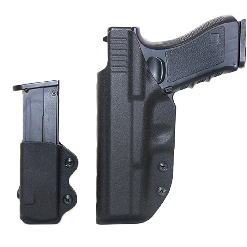 IWB Kydex <font><b>Gun</b></font> Holster For <font><b>Glock</b></font> 17 22 43 43X Airsoft Pistol <font><b>Gun</b></font> Holster Concealed Carry Case <font><b>9mm</b></font> Mag Pouch Hunting Accessories image