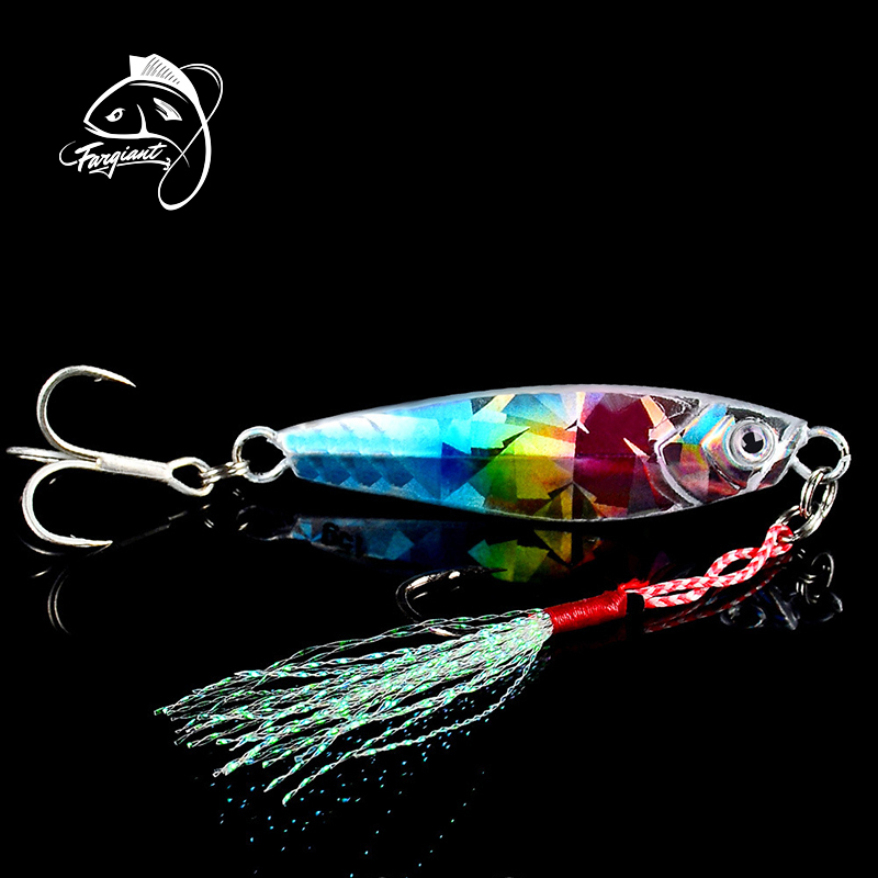 Fargiant Fishing Lure Metal Jig Wobbler Fishing Spinner Spoon Bait Winter Sea Ice Fishing Hard Lure Tackle Squid Artificial Bait
