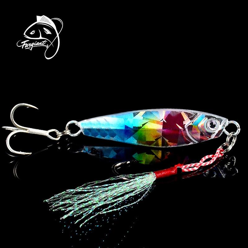 Fargiant Fishing Lure Metal Jig Wobbler Fishing Spinner Spoon Bait Winter Sea Ice Fishing Hard Lure Tackle Squid Artificial Bait|Fishing Lures| |  - title=