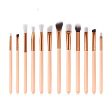 цена на 12 pcs professional makeup brushes eyelash brush for eyeshadow eye lash eyeliner makeu up brush set