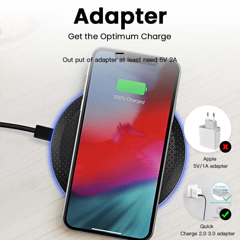 Image 5 - iONCT 10W Fast Wireless Charger for iPhone 11 pro 8 X XR XS  wirless Charging for Samsung phone USB Qi charger wireless pad  IN039Wireless Chargers