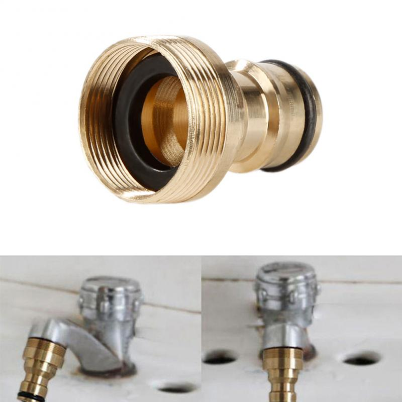 23MM New Hot Solid Brass Threaded Hose Water Tube Connector Tube Tap Snap Adaptor Fitting Garden Outdoor For Washing Machine