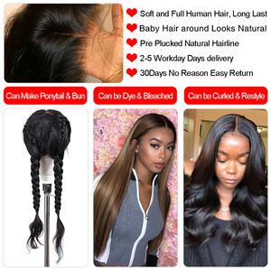 Image 3 - bling hair Perruque Droite Perruque brésilienne Perruque Lace Closure 4x4 5x5 6x6 7x7 Cheveux Humains Perruque Lace Frontal longue perruque de cheveux remy