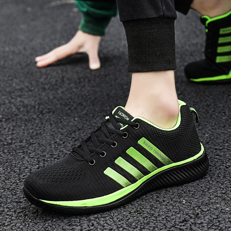 2019 Breathable Running Shoes 46 Summer New Large Size Sports Shoes 46 Comfortable Fashion Men's Walking Shoes Jogging Sneakers