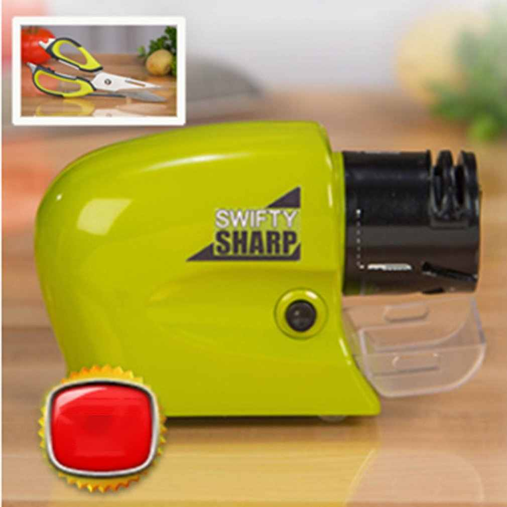 Swifty SHARP Multi-Fungsional Electric Knife Grinder Tajam Alat Batu Gerinda Bahan PP Hijau