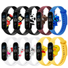 BX Cute band for Xiaomi mi band 3 4 5 straps silicone cartoon waterproof mi band 5 straps for xiaomi mi band 3 4 5