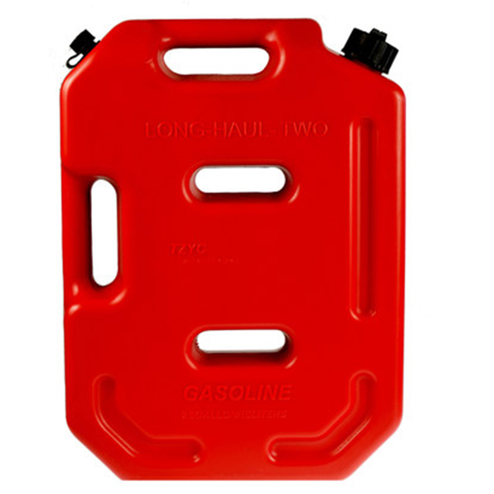 HITTIME Gas Can 8 Gallon Portable Fuel Oil Petrol Diesel Gas Storage Tank Emergency Backup for Motorcycle Most Cars SUV ATV with Pack of 2 Bracket Locks Red-30 L