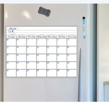 Magnetic Dry Erase Calendar for Fridge 3 Fine Tip Markers and Large Eraser with Magnets- Monthly Whiteboard for Refrigerator Wal