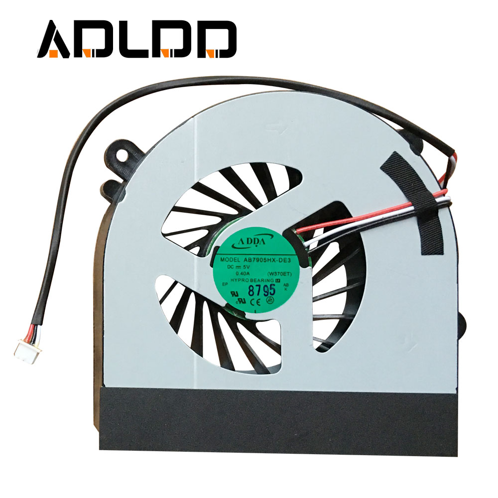 New laptop CPU cooling fan Cooler Notebook Fit for Hasee Clevo W150 W150er W350 6-23-AW15E-011 6-31-W370S-101 Laptops Fans 2