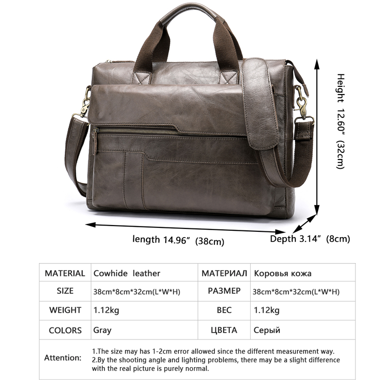 WESTAL hombres maletín bolsa de cuero genuino para ordenador portátil/bolsa de oficina para hombres vintage negocios documento maletín bolso bolso 502-in Carteras from Maletas y bolsas    2
