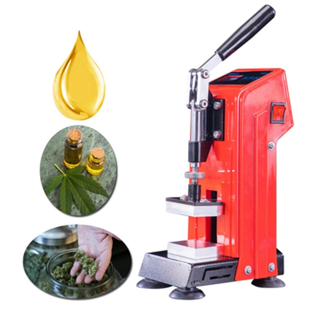 Presse à colophane à vapeur hydraulique, double plaque chauffante, outil Portable d'extraction de cire d'huile