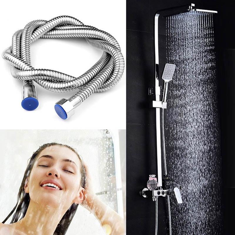 1.5/2m Flexible Shower Hose Stainless Steel 1/2Inch Bathroom Handheld Head Pipe OCT998