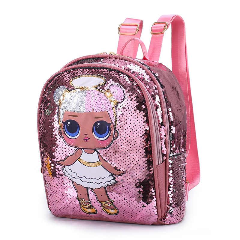 2020 ใหม่ LOL ตุ๊กตาแปลกใจเด็กกระเป๋ากระเป๋าเด็กน่ารักกระเป๋า Plecak 3D กระเป๋าพิมพ์การ์ตูนน่ารักการ์ตูนเด็กกระเป๋าเป้สะพายหลังของเล่นสำหรับหญิง