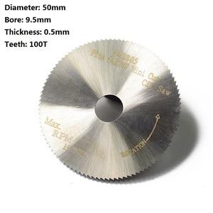 Image 2 - XCAN 1pc 50x9.5x0.5mm 100T HSS Circular Saw Blade Fit #42307 42805 Mini Cut Off Saw Power Tools Accessories Mini Cutting Disc