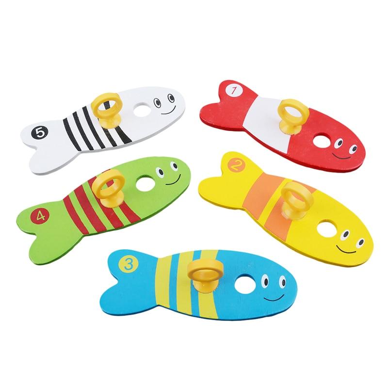 Рыболовные игрушки для детей, цифровые рыболовные колонки, деревянные игрушки, Ранние развивающие игрушки, Монтессори, детские игрушки на