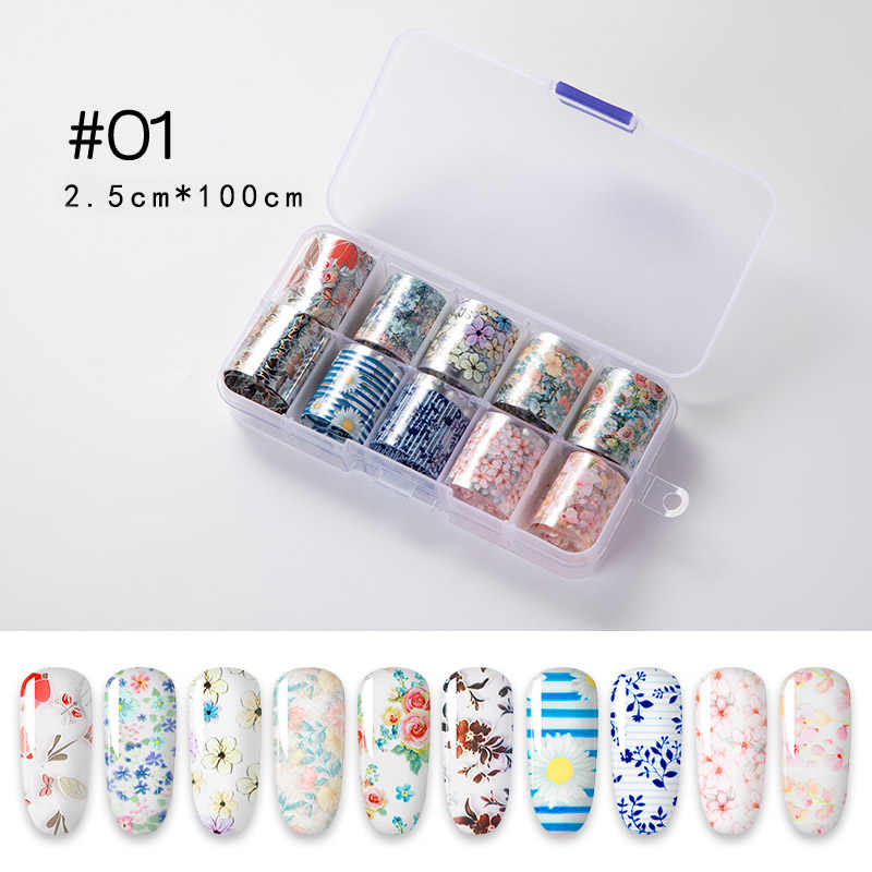 ROSALIND Slider Folie Stickers Voor Nagels Art decals Manicure Set Ontwerp Top Semi Permanente Nail Stickers Kit Nodig Base Gel polish
