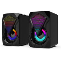 Stereo Sound Surround Loud Speaker 3.5mm Audio Jack Gaming Bass Music Player Colorful Lights Speakers USB Powered Subwoofer