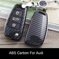Новый чехол для автомобильного смарт-ключа из углеродного волокна ABS  защитный чехол для Audi A4 A5 A6 A7 Q5 Q2  аксессуары для автомобиля