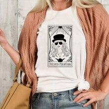 La Alta Sacerdotisa de la tarjeta de Tarot camiseta Casual mujeres Tumblr manga corta Hipster camiseta Tee Shirt