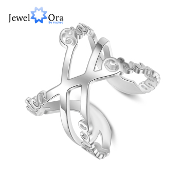 Customized Infinity Name Adjustable Rings for Women Personalized 1- 6 Family Names Open Ring Anniversary Gifts for Mother uny ring 925 sterling silver mother customized engrave rings family heirloom ring anniversary personalized love birthstone rings