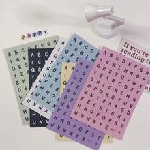 Pegatina para marcar el número del alfabeto en inglés, Material de papelería para manualidades