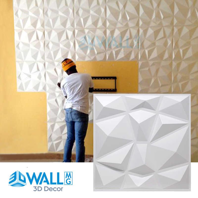 autocollant mural 3d impermeable 30x30cm panneau de carreaux 3d moule mur de platre papier peint pour salon salle de bains cuisine