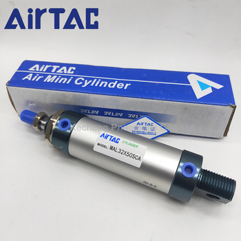 free shipping high quality sc32 series bore 25mm to 1000mm stroke standard cylinder air pneumatic cylinder MAL Series MAL20x50CA MAL20x75CA 20mm Bore 50/75mm Stroke MAL20x50/75 CA Mini Air Pneumatic Cylinder Airtac MAL20*50/75 CA