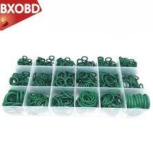 270 шт. зеленое уплотнительное кольцо в ассортименте 18 решетчатое автомобильное кондиционер резиновое кольцо кондиционер уплотнение ремонт уплотнительное кольцо фартук коробка шайба