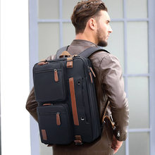 Мужской портативный портфель, водонепроницаемая нейлоновая сумка для ноутбука 15-17 дюймов, сумка-мессенджер через плечо, винтажная большая ...