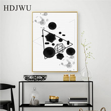 Nordic Simple Art Home Creative Canvas Painting Abstract Geometry Printing Posters Wall Pictures for Living Room DJ685