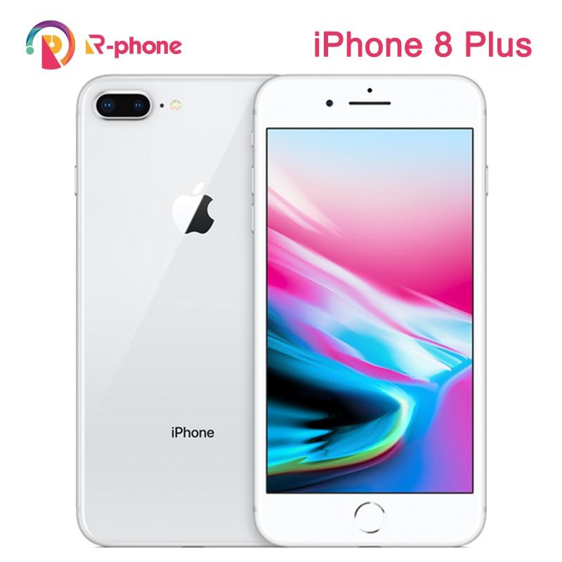 Orijinal Apple iPhone 8 artı kullanılan 99% yeni 3GB RAM 64/256GB ROM Hexa çekirdek iOS kablosuz parmak izi 4G LTE kilidi 8 P telefon