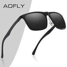 AOFLY lunettes de soleil polarisées pour hommes, DESIGN de marque, en aluminium magnésium, à la mode carrée, miroir de pêche UV400, 2020
