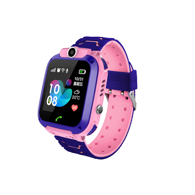 Waterproof Q12 Smart Watch Multifunction Children Digital Wristwatch Baby Watch Phone for IOS Android Kids Toy Gift Pink