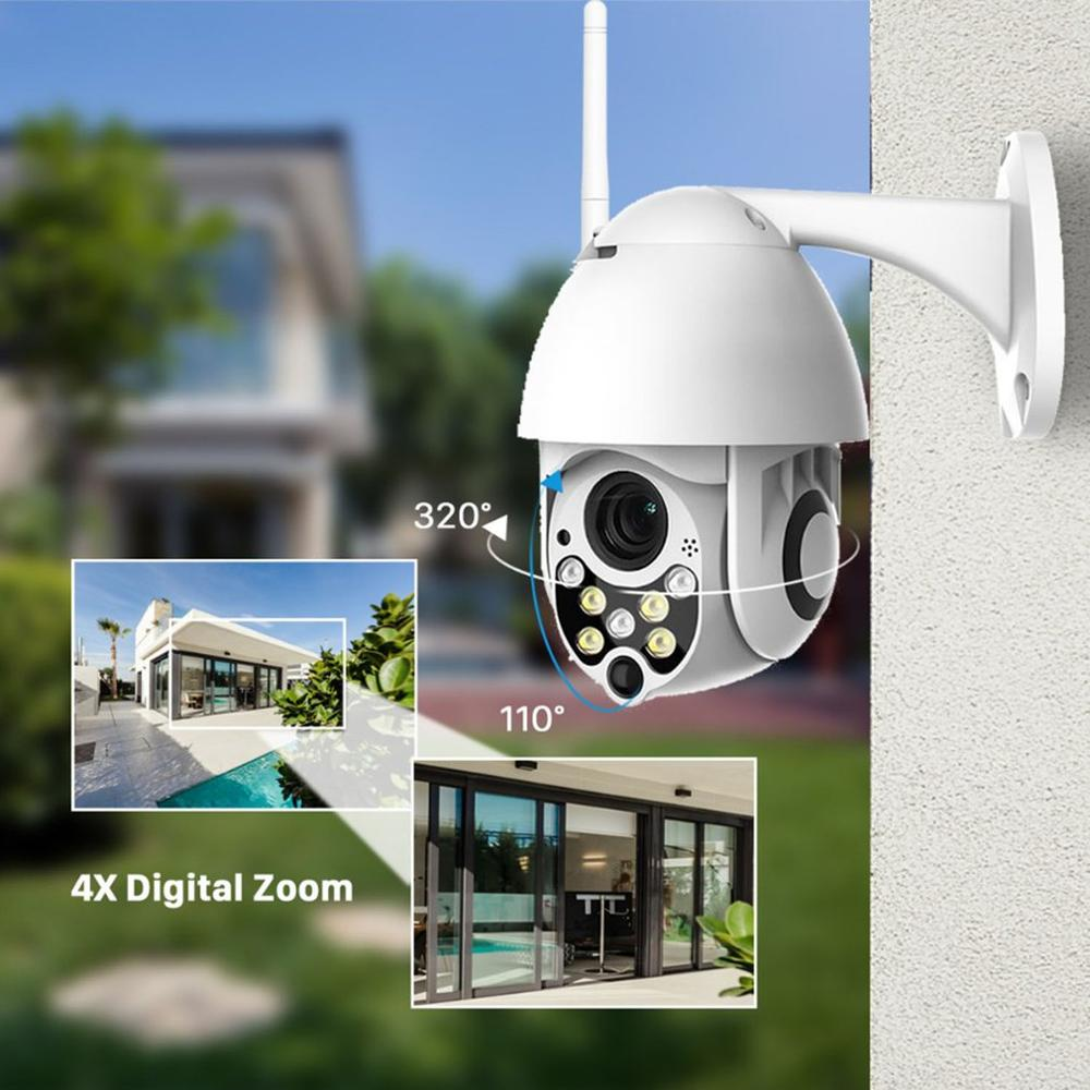 HD 1080P IP Camera Outdoor WiFi Home Security Camera Wireless Surveillance WiFi Dome Waterproof IP Onvif Camara With 32G Card in Surveillance Cameras from Security Protection