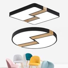 Creative Ultra-thin 6cm Round/Square LED Ceiling Light Nordic Modern Solid Wood Ceiling Lamp Foyer Aisle Home Hotel Decor Lamp цена 2017