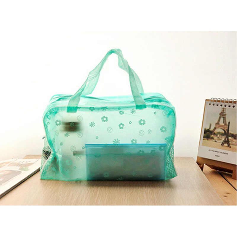Kobiety torba pływająca wodoodporne torebki przezroczyste pcv z tworzywa sztucznego basen plaża organizator na przybory do makijażu przechowywanie kosmetyków torba z pcv