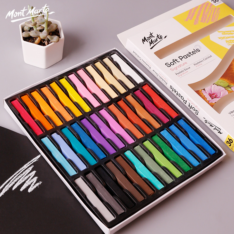 12/36 Colors Dry Painting Crayons Set Bright Soft Pan Pastel Pencils Art Drawing Chalk Color Crayon Brush Stationery For Student