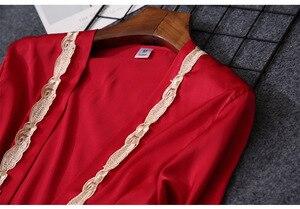 Image 5 - طقم بيجاما من QWEEK للسيدات مكون من 5 قطع من الدانتيل والساتان وملابس النوم المثيرة بيجاما وصالة النوم الكاجوال