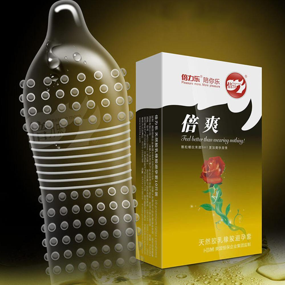 10 Pcs/box G-spot Condom Delay Ejaculation Male Big Particle G-point Penis Sleeve Sex Toys Safe Contraception for Men Couples