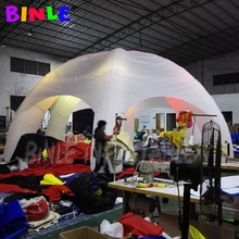 цена на Most popular 6 legs giant inflatable dome tent with led lights inflatable spider dome igloo tent for events and wedding