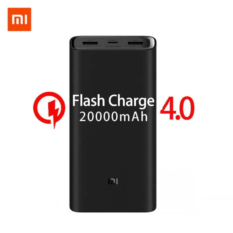 2019 NEW <font><b>Xiaomi</b></font> <font><b>mi</b></font> Power Bank <font><b>20000mAh</b></font> 3 USB-C 45W Three Ports Output PD Quick Charger <font><b>Powerbank</b></font> <font><b>Xiaomi</b></font> <font><b>2C</b></font> External Battery Pack image