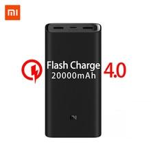 2019 novo xiaomi mi power bank 20000mah 3 USB C 45w três portas de saída pd carregador rápido powerbank xiaomi 2c bateria externa