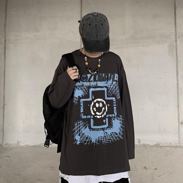 Фото футболка с принтом в стиле харадзюку забавная одежда гонконгском