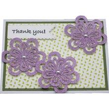 New Blossom Craft 2PCS Metal Cutting Die Cuts Flowers Decoration Scrapbook Album Paper Card Embossing