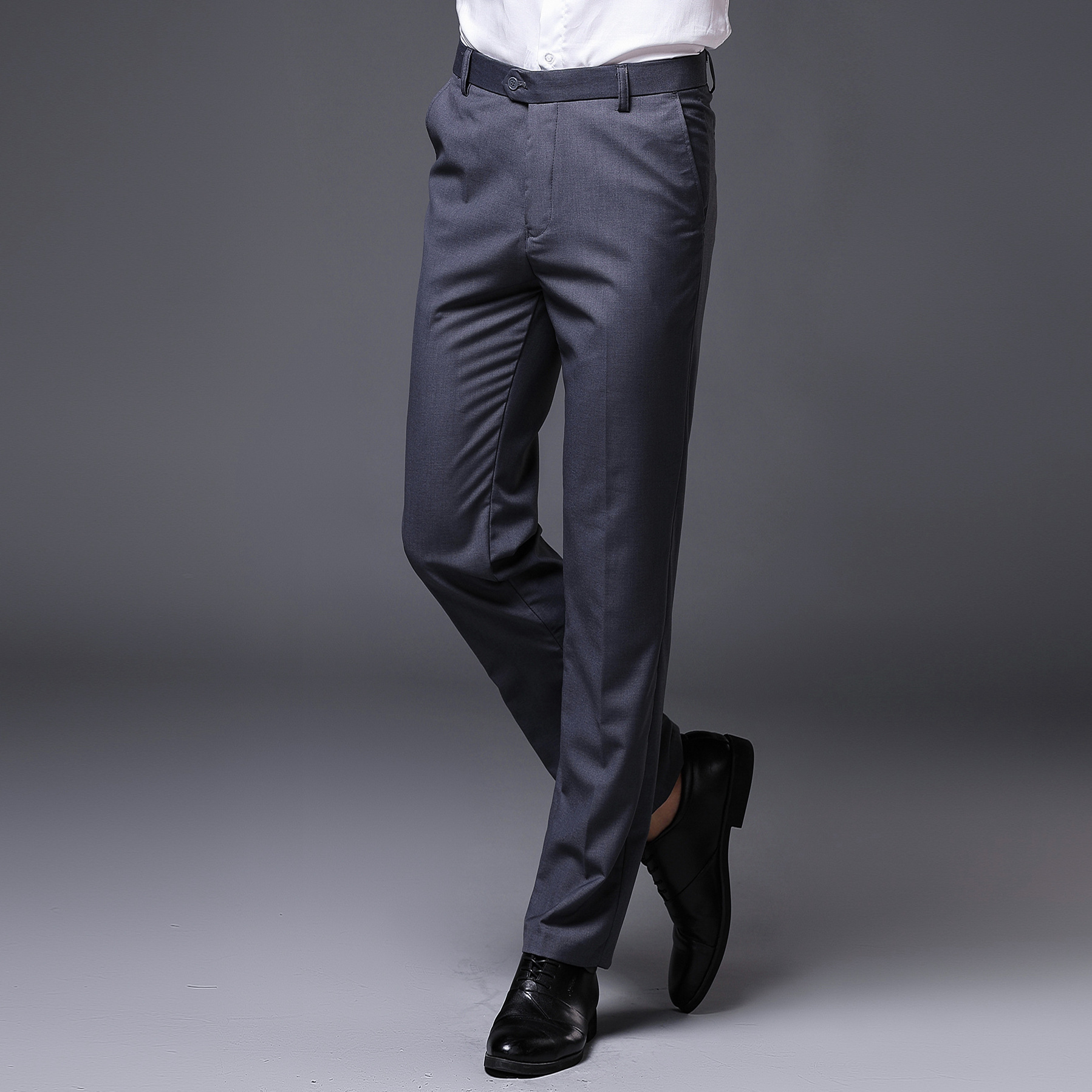 Yayu Mens Wrinkle-Free Dress Pants Stretch Casual Suit Pant Trousers