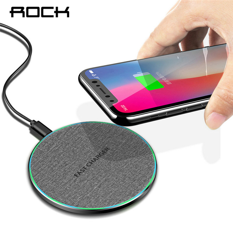 ROCK Qi Fast Charging 10W Wireless Charger For IPhone 11 Pro XS XR X 8 Airpods Quick Charge 3.0 Wireless Charging Pad For Huawei